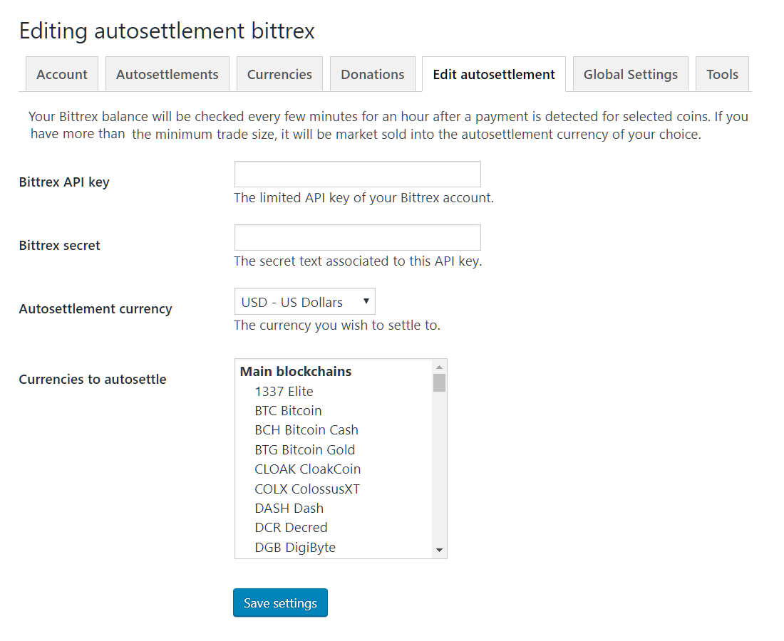 fiat autosettlement options